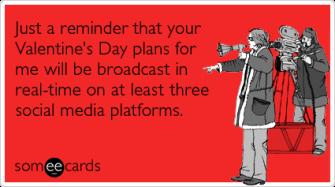 valentines social media